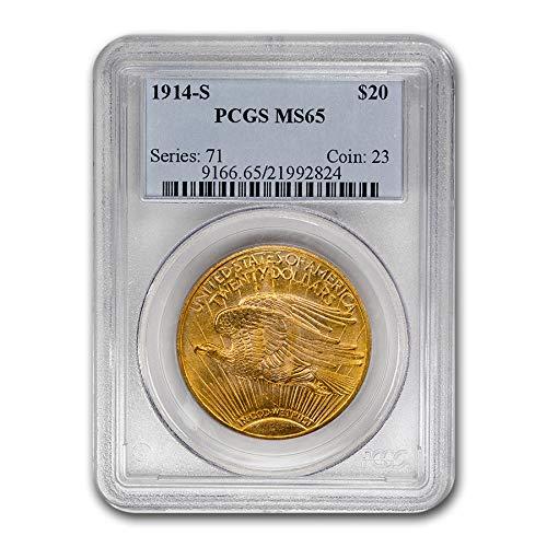 - 1914 S $20 St. Gaudens Gold Double Eagle MS-65 PCGS G$20 MS-65 PCGS