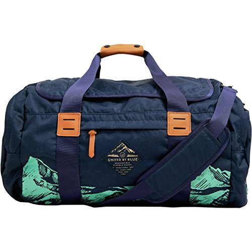 United by Blue Print Arc 55L Duffel Navy Mountain, One Size by United By Blue