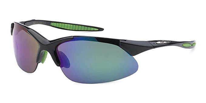 c9e08f4cc4 X-Loop Wrap Around Running Cycling Baseball Sports Sunglasses - Black with  Revo Green Lens