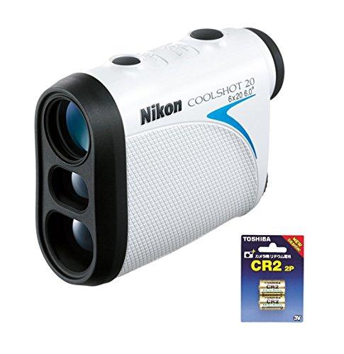 Nikon 휴대형 레이저 거리계 COOLSHOT 20 LCS20+TOSHIBA CR2G 2P 카메라용 리튬 팩 전지 세트