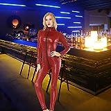 CSSD Women Seductive Lingerie Artificial Leather Open Crotch Bodysuit Siamese