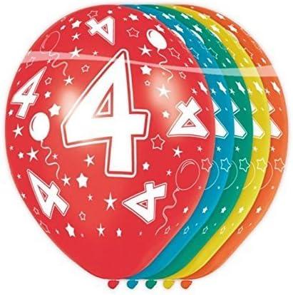 palloncini colorati per compleanno e anniversari 4 anni Folat 8714572193047