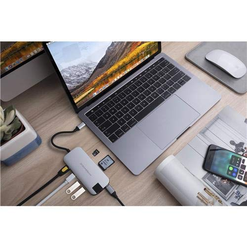 Sanho HyperDrive Slim 8-in-1 USB-C Hub, Silver by Sanho