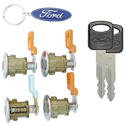 Doors Cylinder (Ford Econoline Van (E150~E250~E350) Keyed 4 Door Locks Cylinder Lock Set For Cargo & Club Wagon Passenger Van 1997-2012)