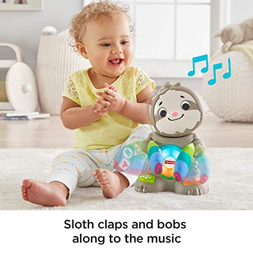 51zOp9q11CL - Fisher-Price Linkimals Smooth Moves Sloth - Interactive Educational Toy with Music, Lights, and Motion for Baby Ages 9 Months & Up