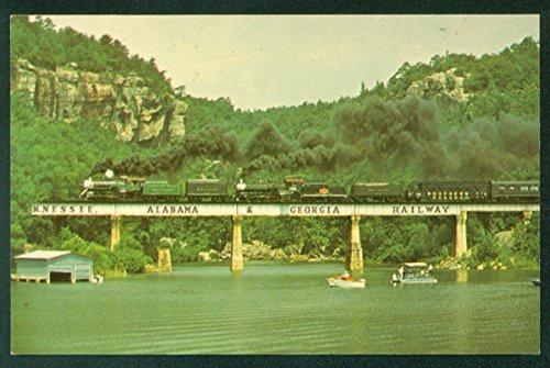 TAG Southern Railway No 722 S&A 750 BLUE POND Alabama Railroad Train Postcard ()