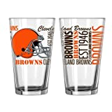 2015 NFL Football Spirit Series Beer Pints - 16 ounce Mixing Glasses, Set of 2 (Browns)