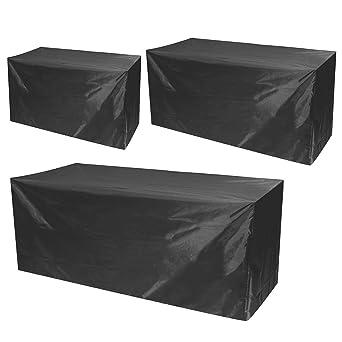 MASUNN Muebles Impermeables Sofá Mesa De Mesa Cubre 2/3/4 Plazas Jardín Muebles De Patio Al Aire Libre Cubierta - L: Amazon.es: Industria, empresas y ciencia