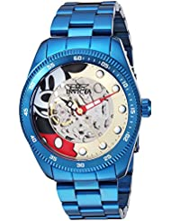 Invicta Mens Disney Limited Edition Automatic Stainless Steel Casual Watch, Color:Blue (Model: 25454)