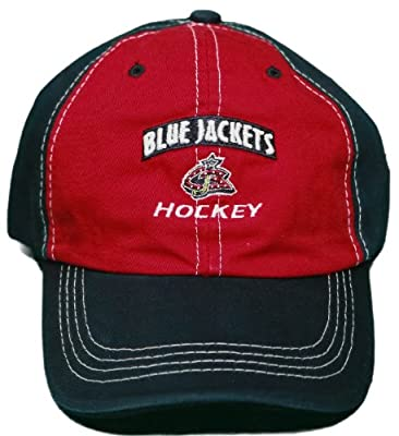 New! Columbus Blue Jackets Adjustable Velcro Back Embroidered Cap - Navy/Red from Zephyr Headwear