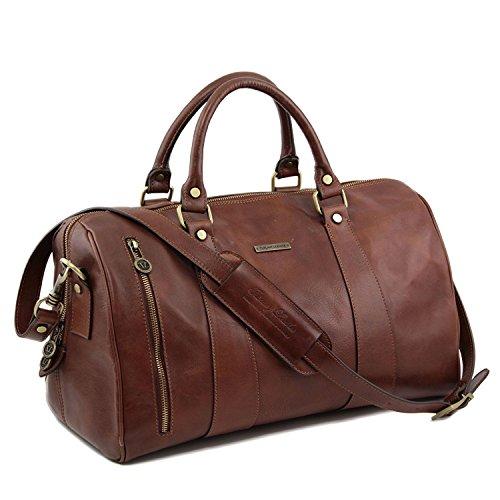 Tuscany Leather - TL Voyager - Maleta de viaje en piel - Modelo Pequeño Marrón - TL141216/1 Negro