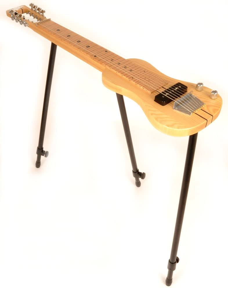 SX 8 Nat 8 cadena Lap Steel guitarra w/libre soporte desmontable y acolchada bolsa de transporte
