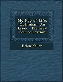 optimism an essay by helen keller