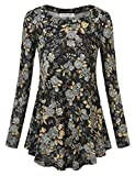 BAISHENGGT Women's Printed Casual Knit Shirts Long Sleeve Tunic Tops Blouse