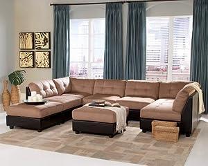Microfiber Sectional Sofa Set   8 Piece In Brown Microfiber   Coaster