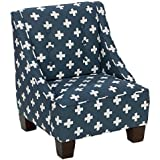 Skyline Furniture Wilson Kids Chair in Swiss Cross Navy