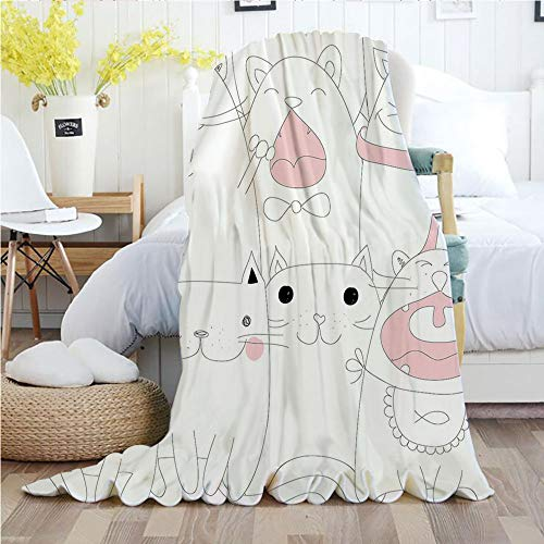 Ylljy00 Kitten,Throw Blankets,Flannel Plush Velvety for sale  Delivered anywhere in USA