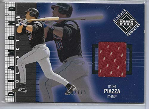 2002 UD Diamond Collection Baseball Mike Piazza Game Used Bat Card # 470/775