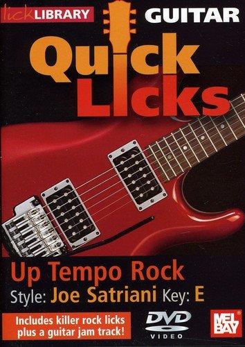 DVD : Quick Licks: Joe Satriani Up Tempo Rock - Key: E (DVD)
