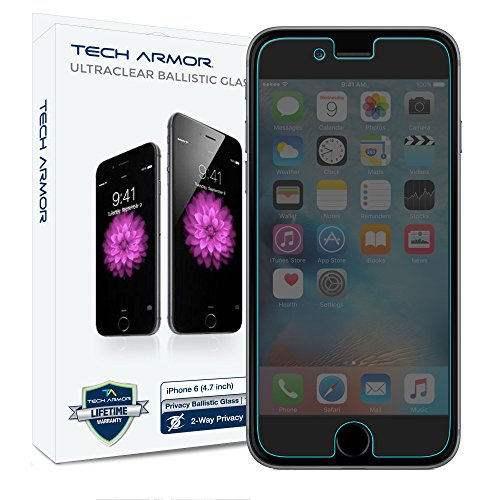 Tech Armor Privacy Ballistic Glass Screen Protector for Apple iPhone 6/6s (4.7-inch) [1-Pack]