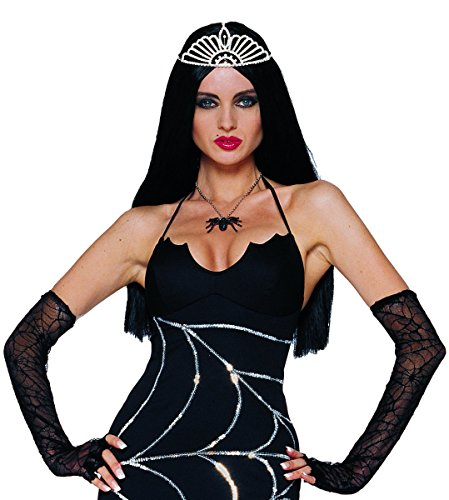 Costume Culture Rubies Deluxe Widow Necklace, Black -