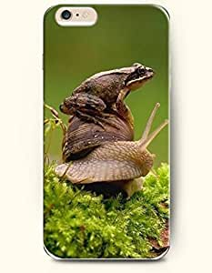 iPhone 6 Plus Case 5.5 Inches Frog Sitting in the Snail - Hard Back Plastic Case OOFIT AuthenticKimberly Kurzendoerfer