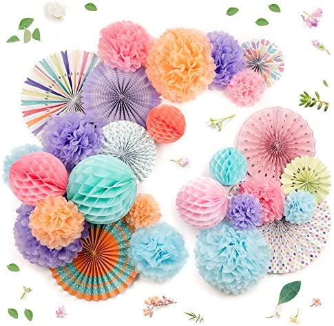 PapaKit Decoration Assorted Pom poms Birthday product image