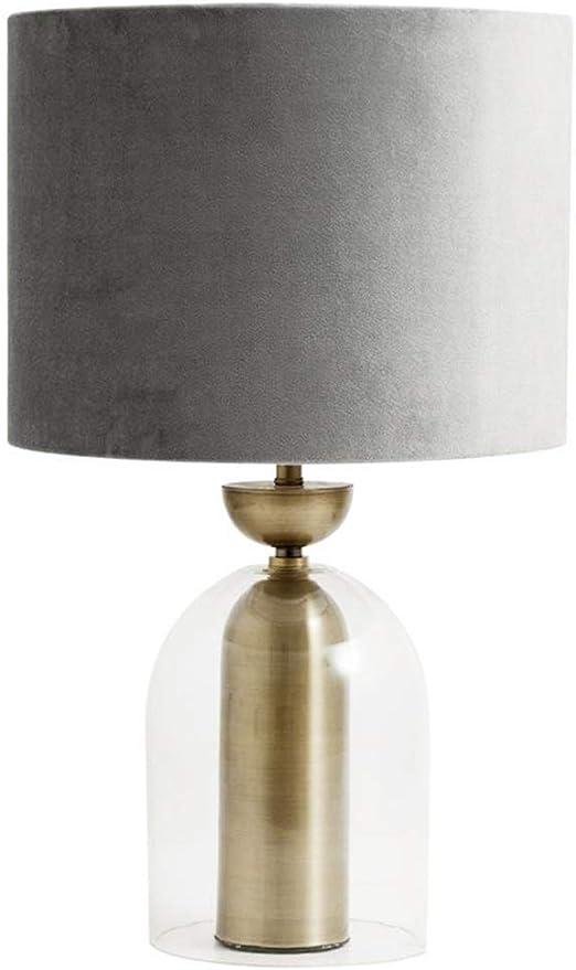 Decorativa lámpara de Mesa, Gris Blanco Pantalla de Cristal Cubo ...