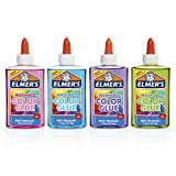 Elmer's Washable Translucent Color Glue, Great For Making Slime, Assorted Colors, 5 Ounces Each, 4 Count