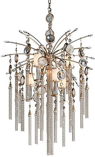 Lighting Bronze Corbett (Corbett 162-47, Bliss Large Glass 2 Tier Chandelier Lighting, 7 Light, 120 Watts, Topaz Leaf)