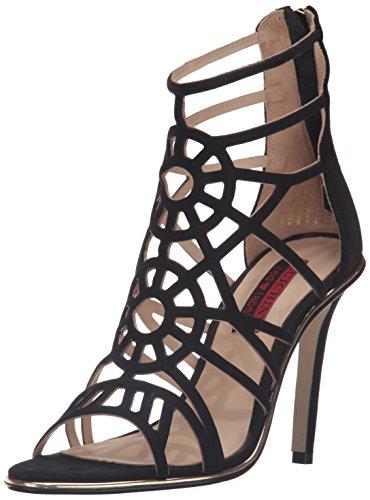 Luichiny Women's Ask a Girl Dress Sandal, Black, 7 M US -