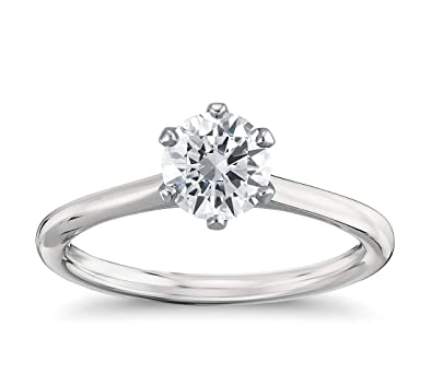 42b03684b9be5 diamond solitaire engagement ring for women with 1 2 carat natural diamond  Size I 1