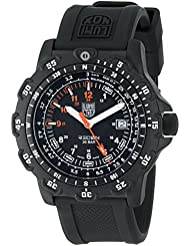 Luminox Mens 8821.KM Recon Pointman Black, Rubber Band, With Multi Color Accents Watch