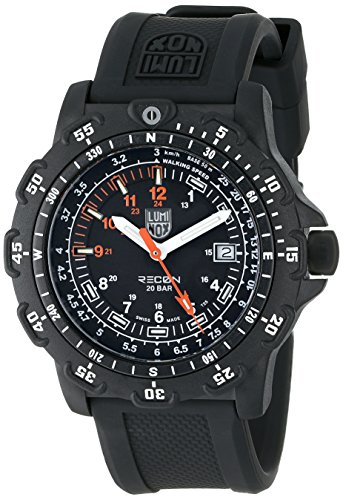 Luminox Men's 8821.KM Recon Pointman Black, Rubber Band, With Multi Color Accents Watch by Luminox