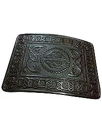 AAR Scottish Highland Kilt Belt Buckle Celtic Design Black Finish