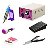 Belle Electric Nail Drill Machine Professional Complete Manicure Pedicure File for Acrylics, Natural, Gels Nails