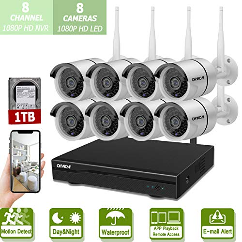 Wireless 8-Channel 1080P Security Camera System With 8pcs 1080P Full HD Cameras,Home CCTV Surveillance System,Indoors&Outdoors IP Cameras+8CH House Wifi NVR Recorder,1TB Hard Disk Drive Pre-Installed. Review