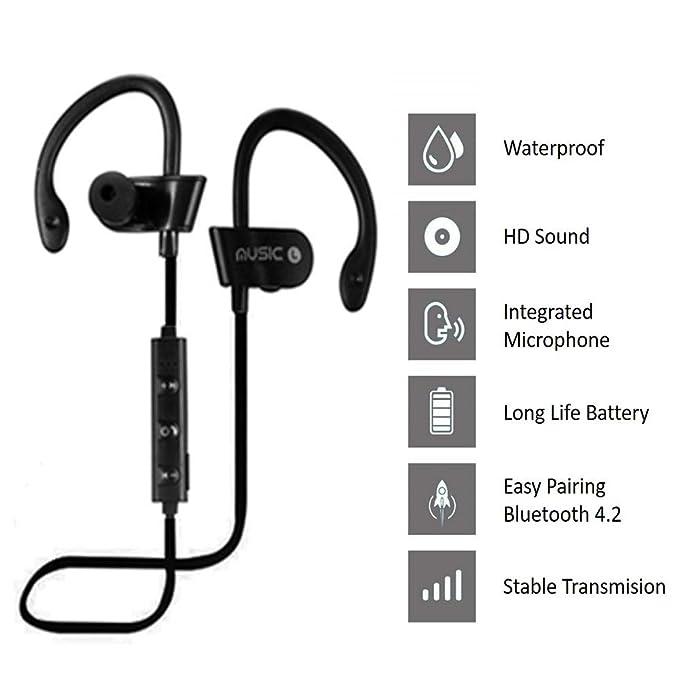 Auriculares Bluetooth Deportivos, Earphones Wireless in Ear ...