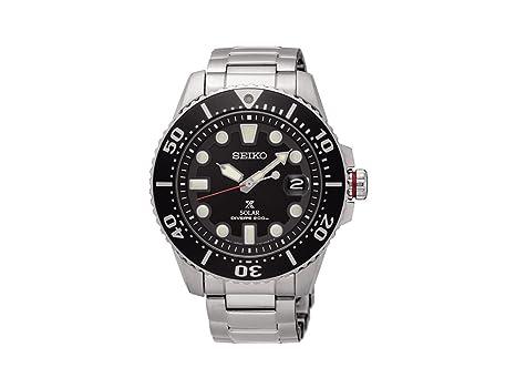1238882e3f6 Seiko prospex Montre Homme Analogique Quartz avec Bracelet Acier Inoxydable  SNE437P1