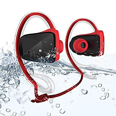 Waterproof Wireless Sport Headset Headphone Earpiece , Bluetooth 4.0 Support APTX NFC Music Stereo In-ear Earbuds Earphone , Dual Microphone , Suitable for Running Cycling Jogging Yoga Gym