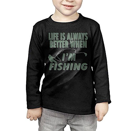 I'm Fishing Kids Classic Round Collar Long Sleeve - Buy Can Lf Clothing Where I Online