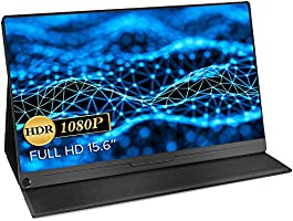 モバイルモニター EVICIV 最新版 モバイルディスプレイ 15.6インチ ゲームモニター IPS液晶パネル 薄型 軽量 USB Type-C/標準HDMI/mini DP スタンドカバー...
