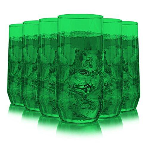 Libbey Diamond Swirl 6 -Piece Glassware Set Full Emerald ...
