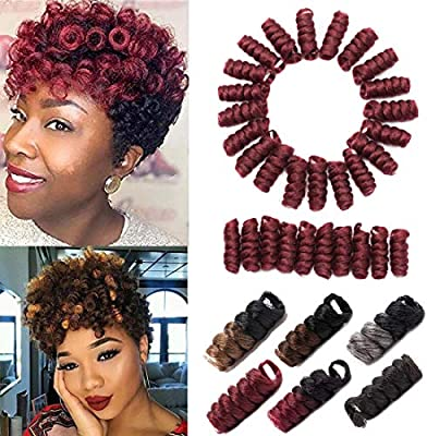 Kenzie Toni Curl Crochet Hair 10 Inch Toni Curls Crochet Braids Carrie Saniya Curl Short Curly Crochet Hair For Black Women Synthetic Twist Braiding Hair Extension Burgundy 3 Pack Buy Online At