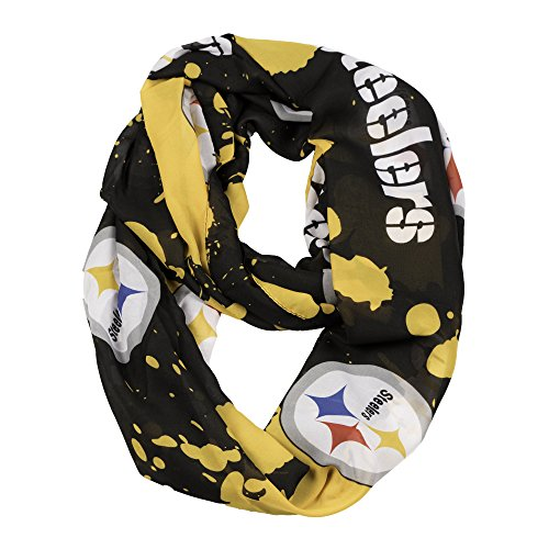 NFL Pittsburgh Steelers Silky Spatter Infinity Scarf ()