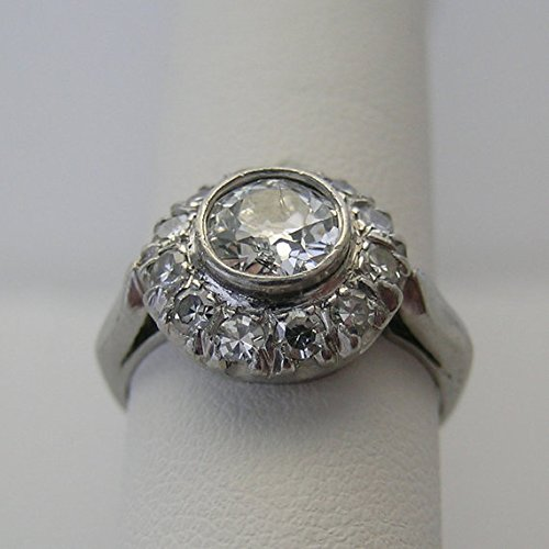 Vintage Platinum Art Deco Antique Diamond Engagement Ring