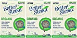 Now Foods BetterStevia Organic - 75 (1 g) Packets/Box 3 Pack
