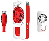 Portable Fan | Outdoor Mist Fan Personal Mister for Cooling Spray with USB Power Cord and Adapter by JZK (Red)