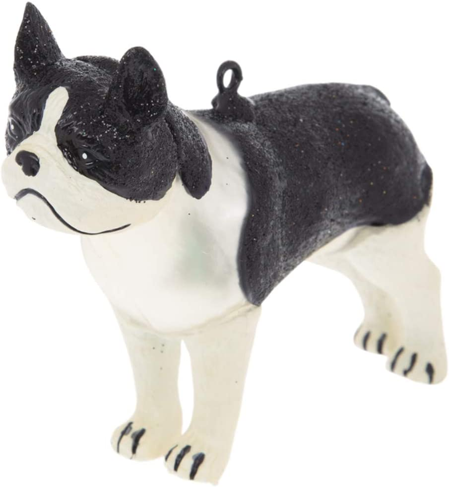 Robert Stanley Boston Terrier Christmas Tree Ornament, for Dog Lovers, American Gentleman