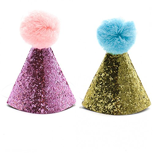HUELE 2 pcs Dog Birthday Hat for Pets Party Cat kitten Headband hats Charms Grooming Accessories -